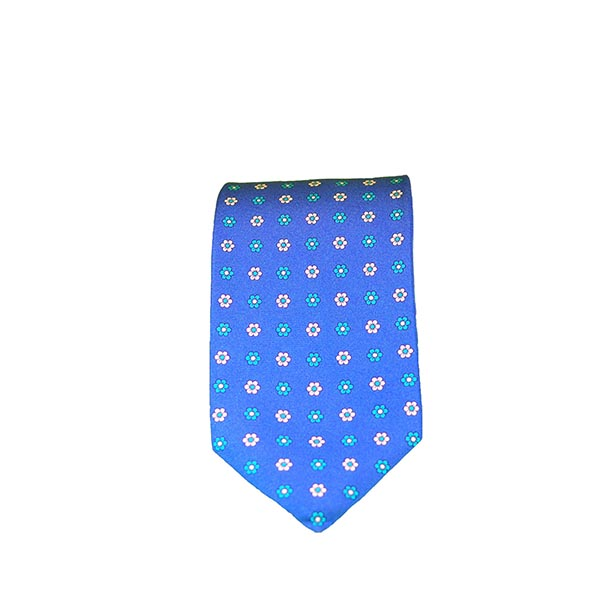 Cravatta seta denim