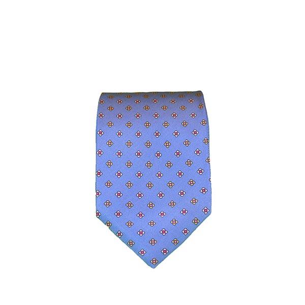 Cravatta seta blu chiaro