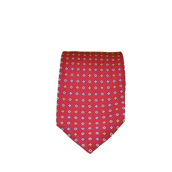 Cravatta seta rosso carminio