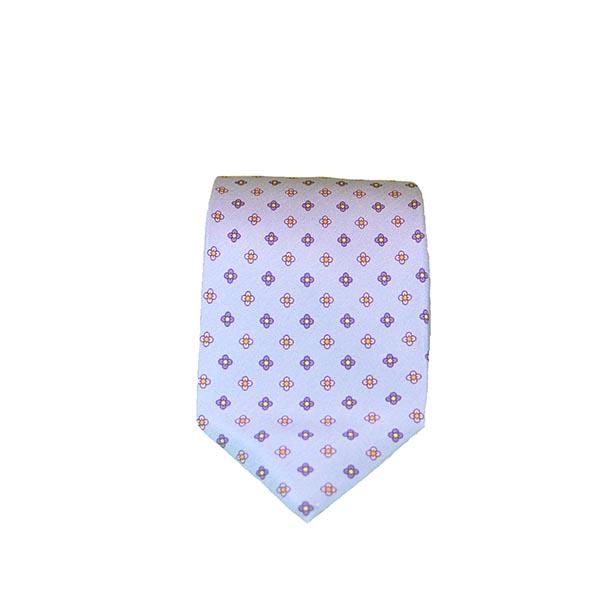 Cravatta seta denim chiaro