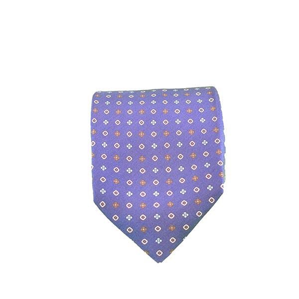 Cravatta seta indaco