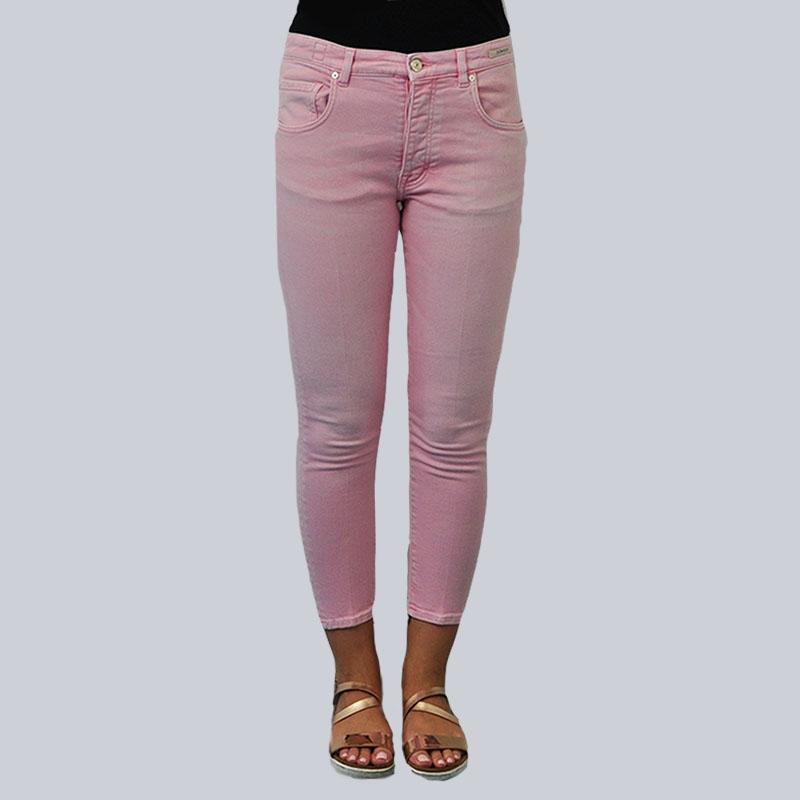 Jeans slim fit rosa