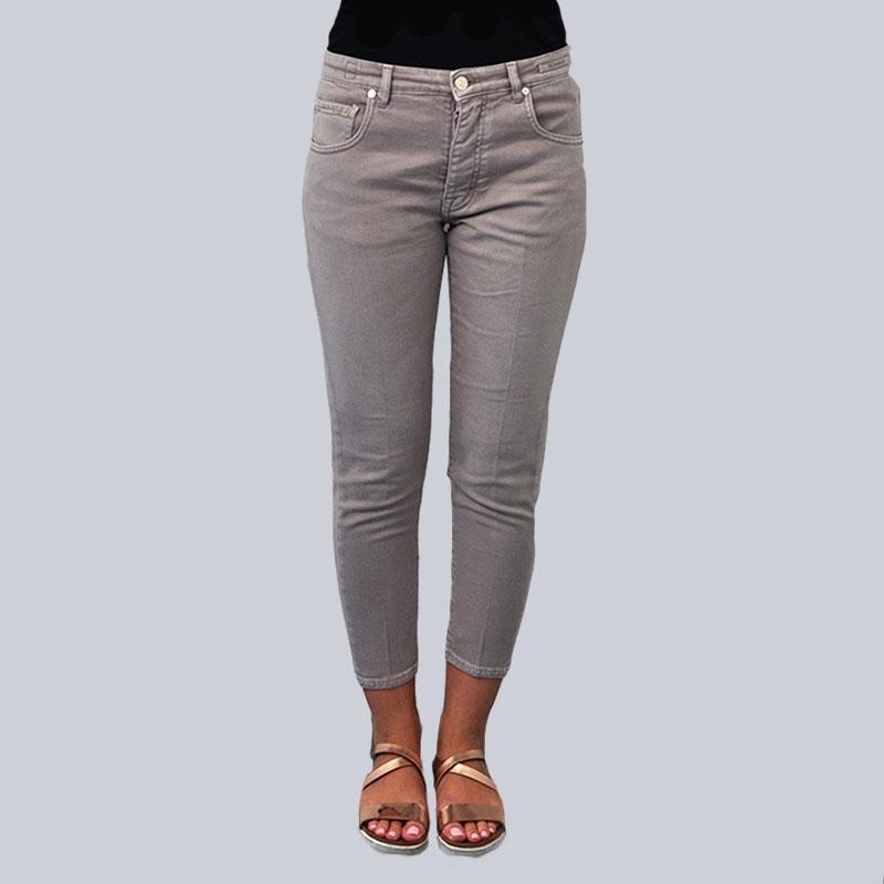 Jeans slim fit tortora