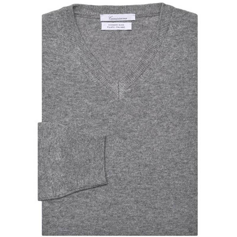 Maglia scollo a V Grey