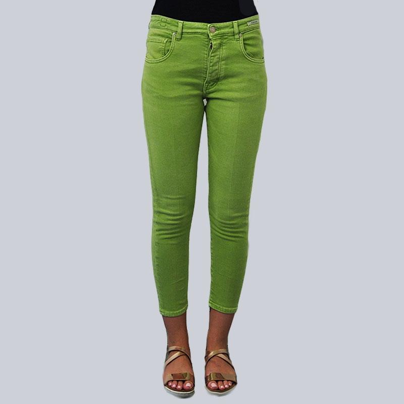 Jeans slim fit verde pistacchio