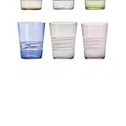 Confezione Filante da 6 bicchieri tumbler assortiti