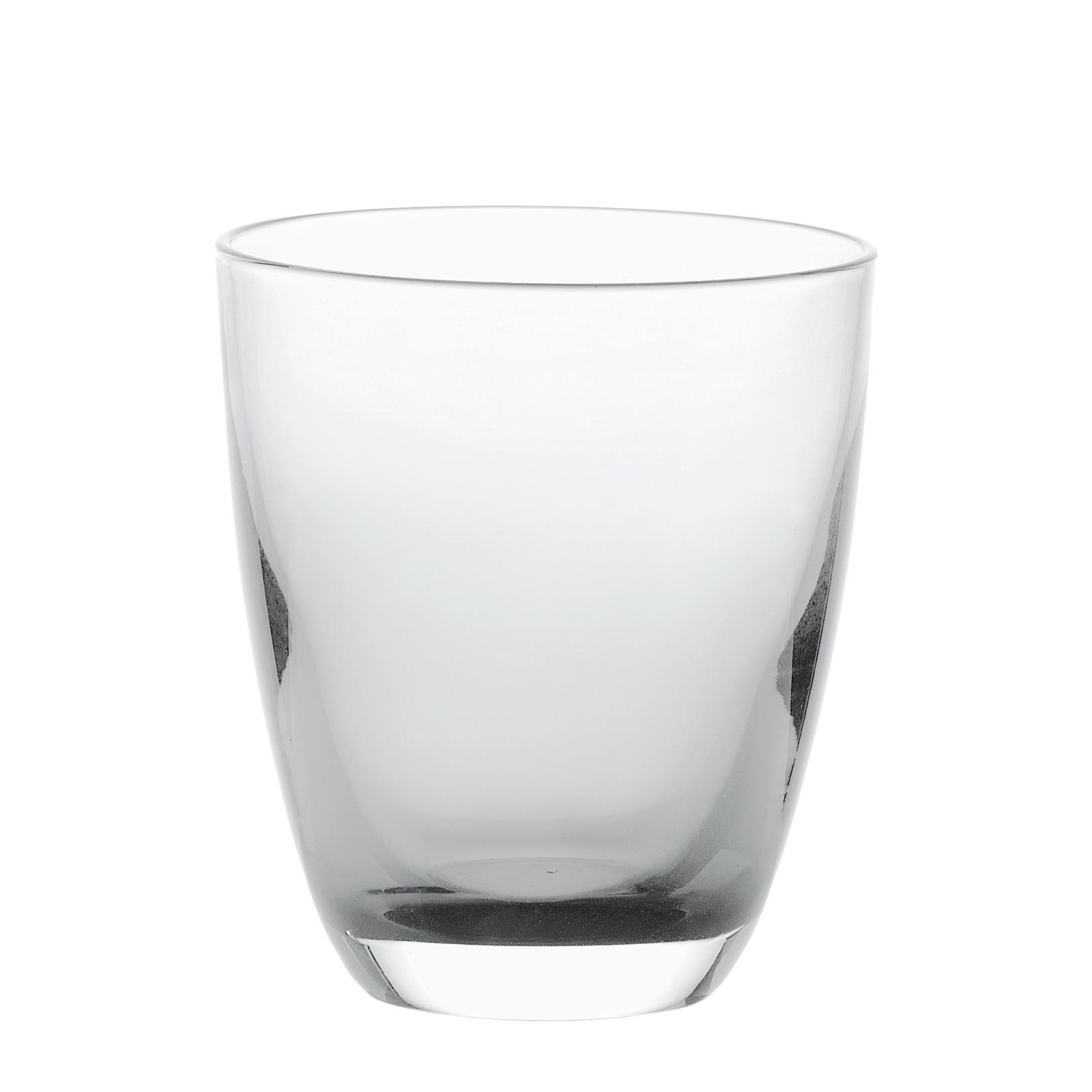 Set 6 bicchieri in vetro bicolore