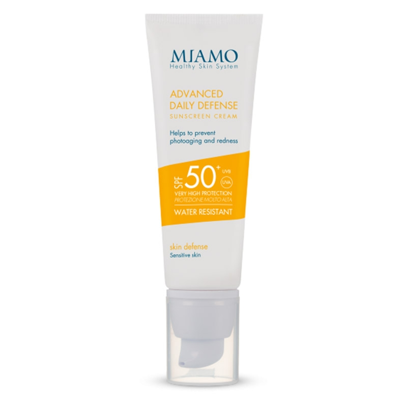 Advanced daily defense sunscreen cream spf 50+ skin defense
