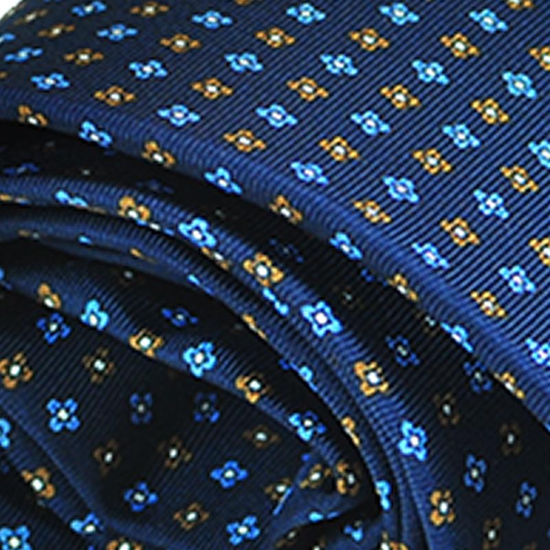 Cravatta seta blu scuro