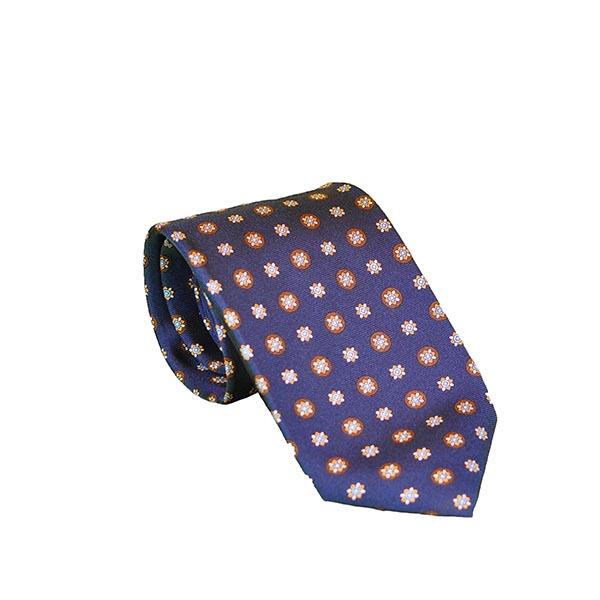 Cravatta seta blu marino