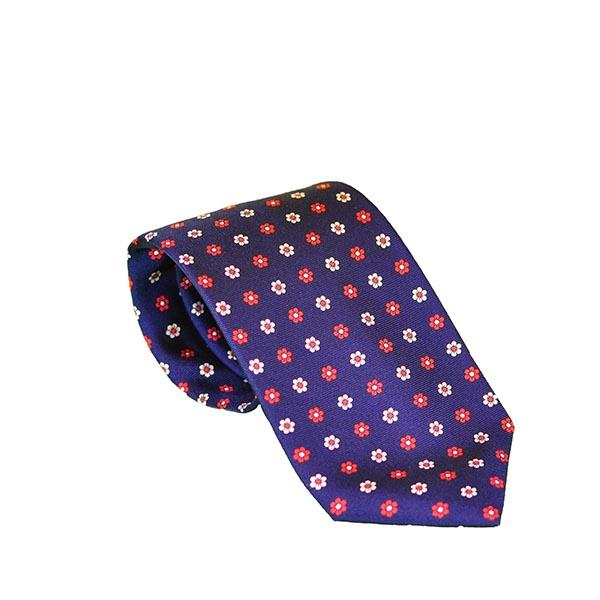 Cravatta seta blu zaffiro