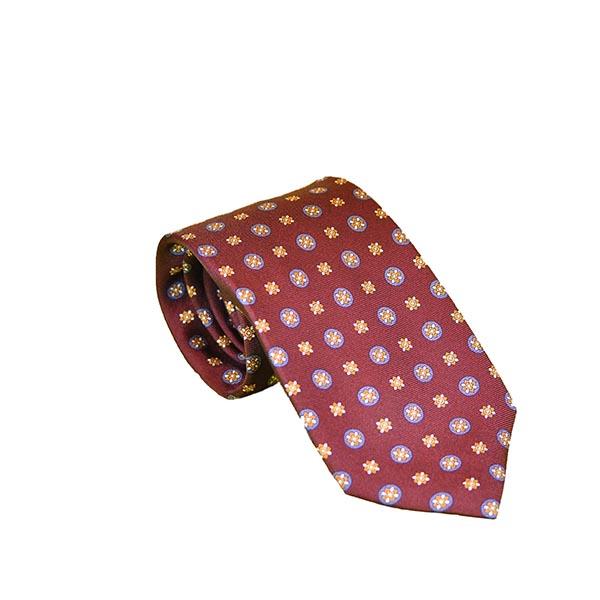Cravatta seta rosso granata