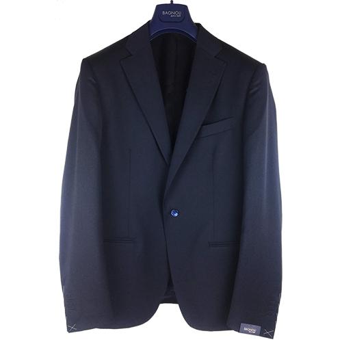 Completo sartoriale blu notte in lana pesante