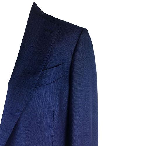 Completo sartoriale blu scuro in lana leggera