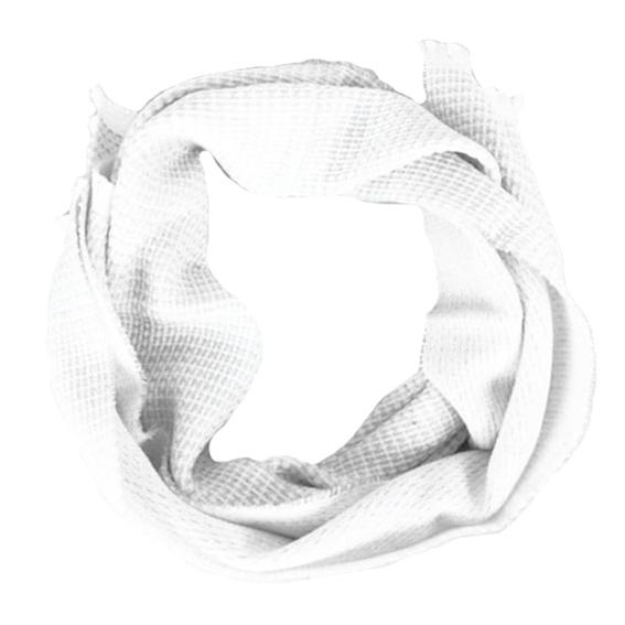 Sciarpa Bianco con trame ad incrocio