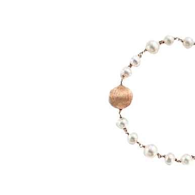 Bracciale argento con perle fresh water