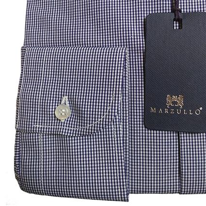 Camicia Quadretti Botton Down Blu