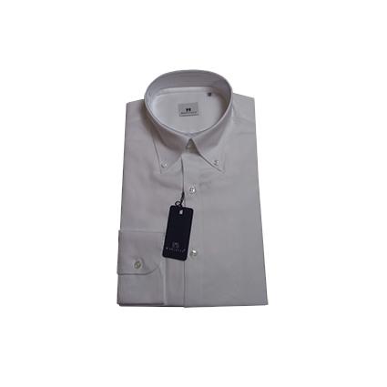 Camicia tinta unita Botton Down Bianco