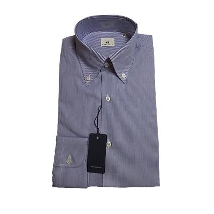 Camicia piccole righe Botton Down Blu