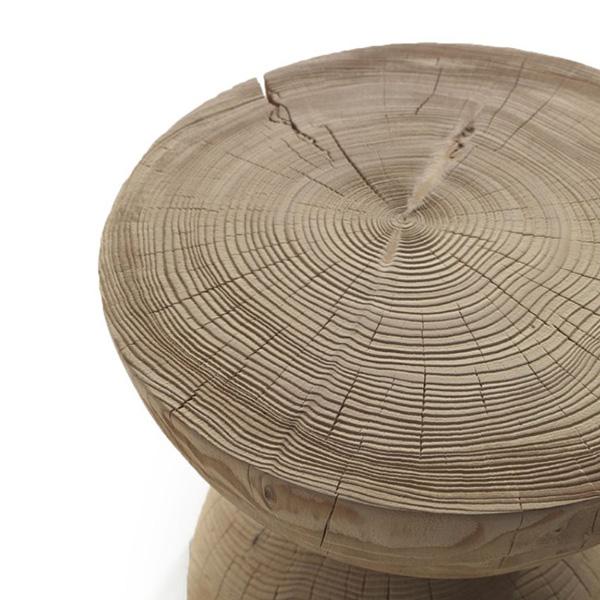 Sgabello Clessidra cedro naturale