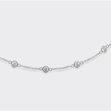 Collana in argento 925 - Zirconi Bianchi