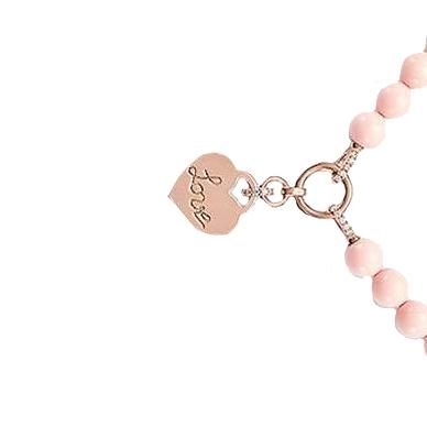 Collana in argento 925 zirconi Corallo Rosa