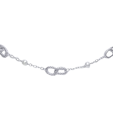 Collana in argento 925 - Perle Fresh Water 6/6-5 7/7-5