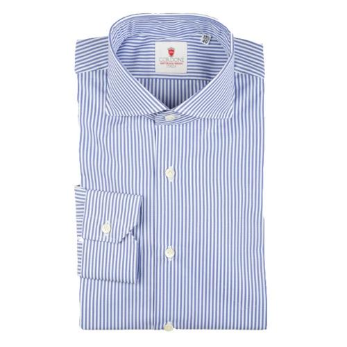 Camicia Dandy Cotone Righe Bianche e Blu