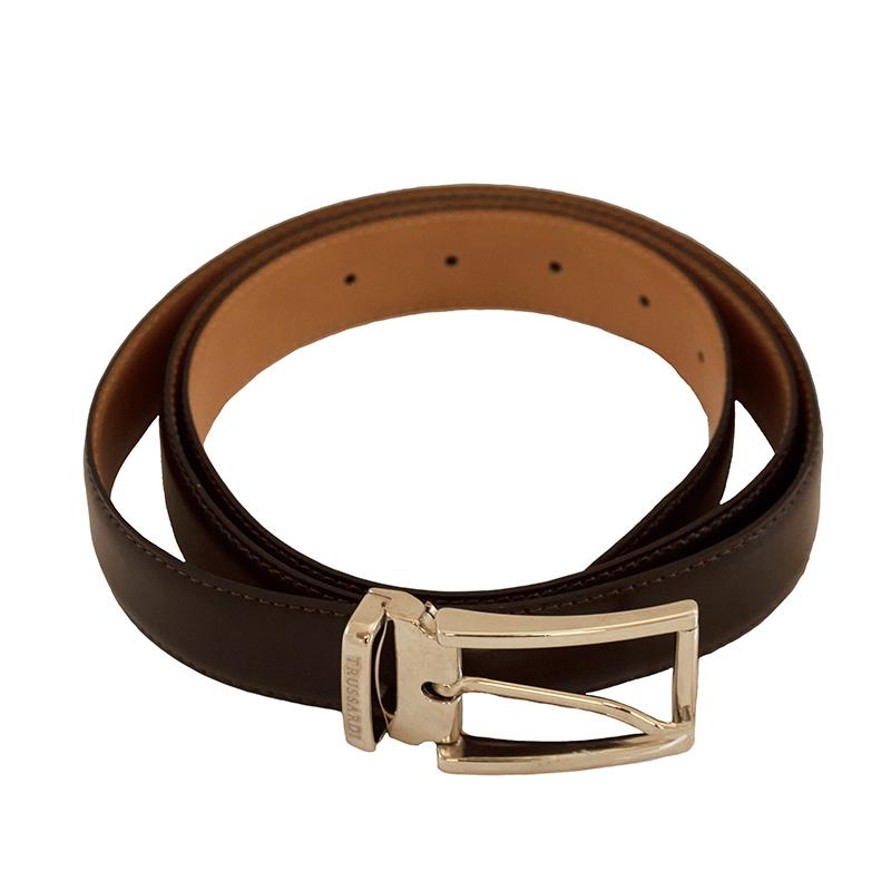 Cintura marrone-cuoio in pelle