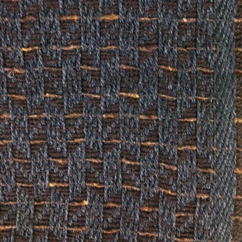 Sciarpa Marrone con righine beige
