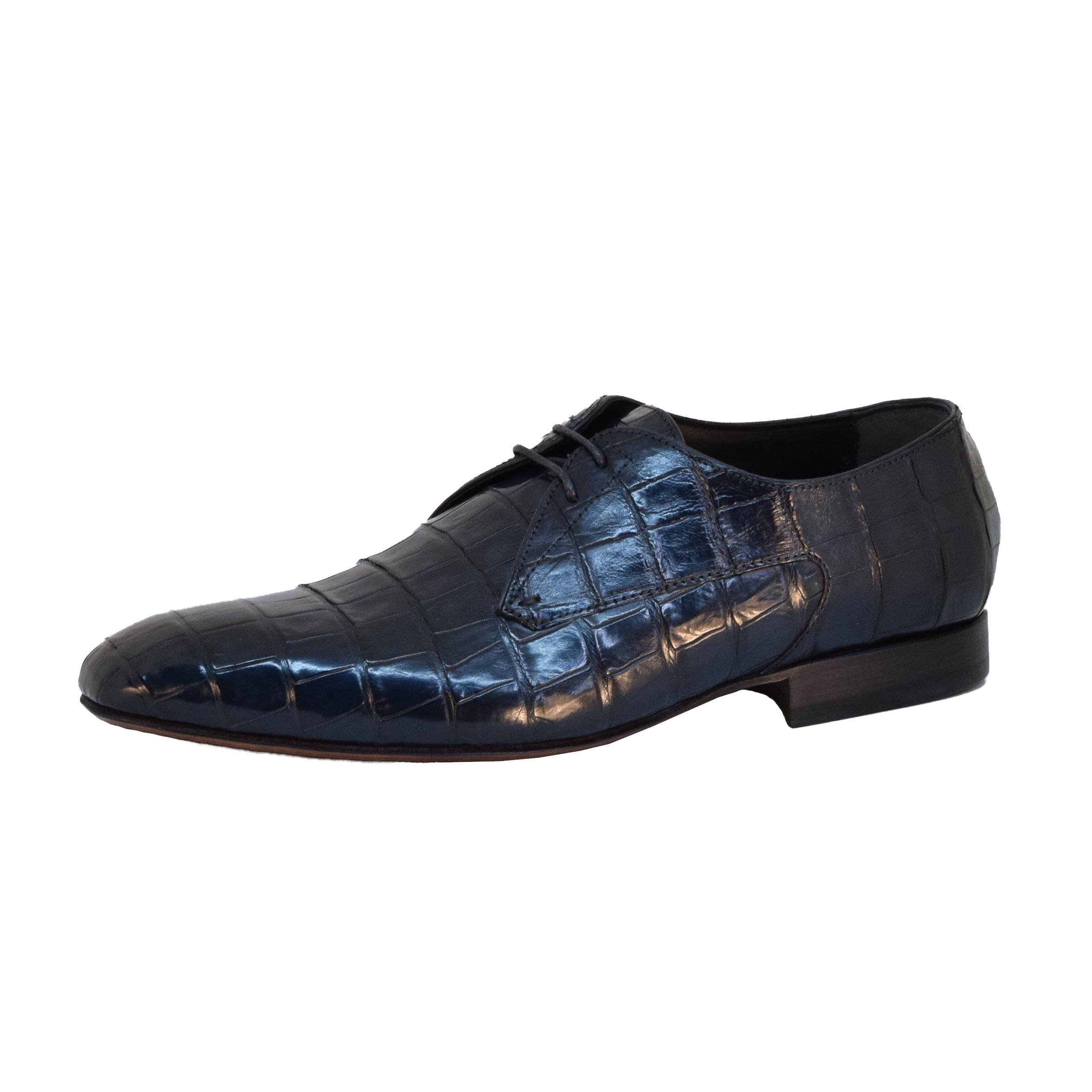 Scarpa Stringata Elegante Uomo - Blu