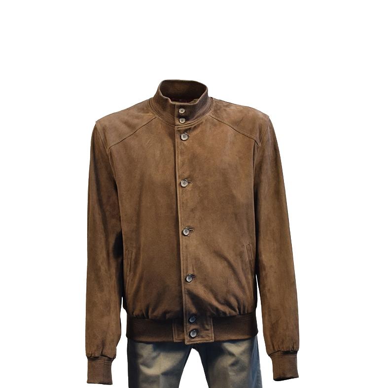 Giubbotto King Slim Goat Garment Suede - Col. Fango