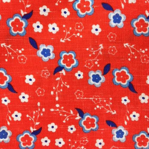 Pochette fantasia 5 pz - Art decò, Bordeaux piccoli fiori