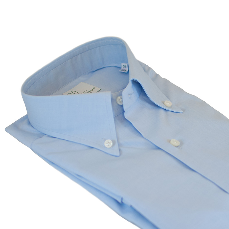 Camicia cotone celeste Pin Point