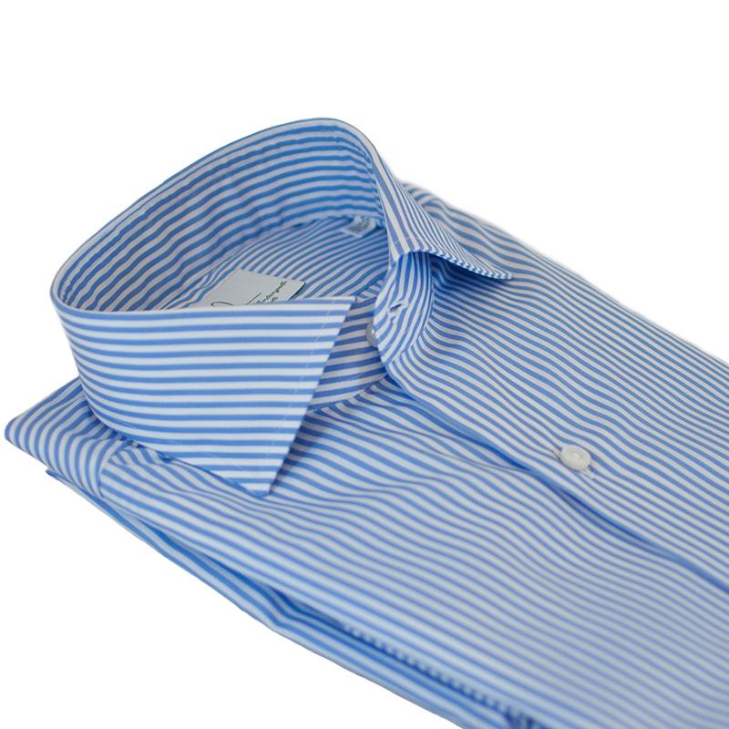 Camicia cotone twill a righe
