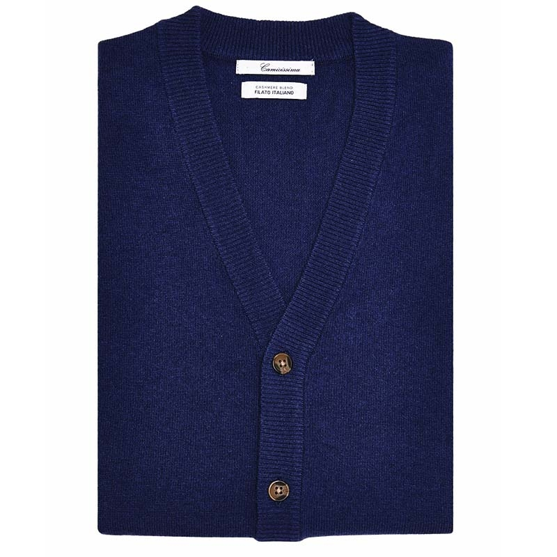 Gilet con bottoni Blue navy