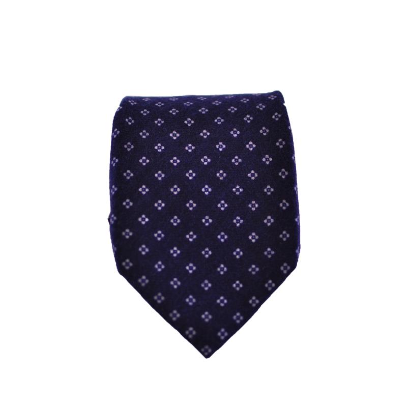 Cravatta lana blu scuro