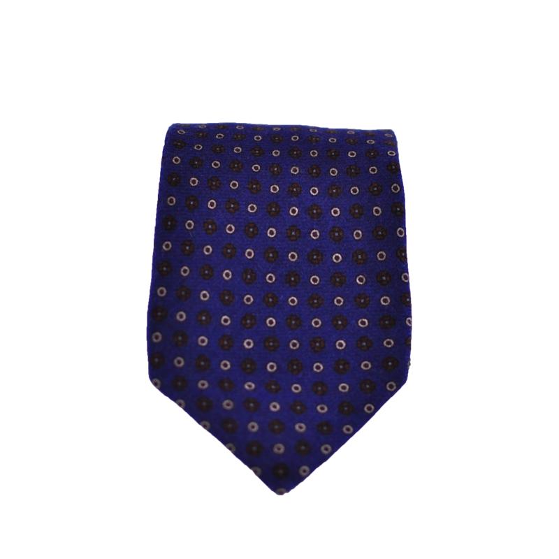 Cravatta lana blu oltremare