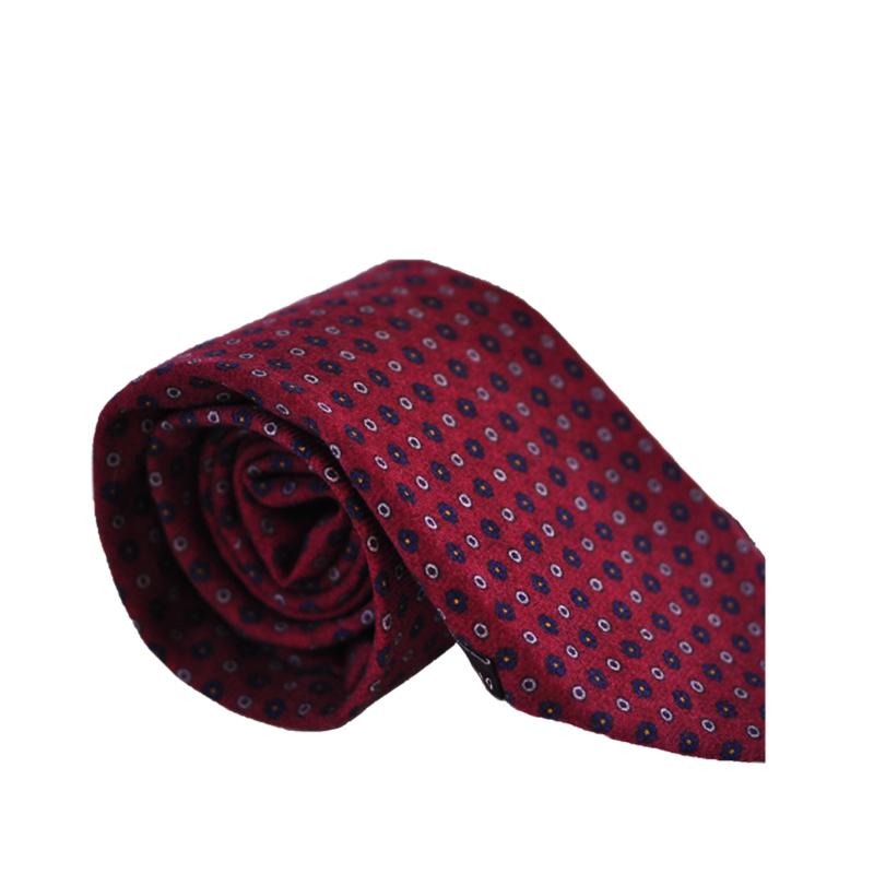 Cravatta lana rosso granata