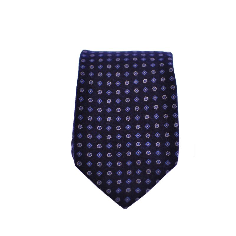 Cravatta lana blu