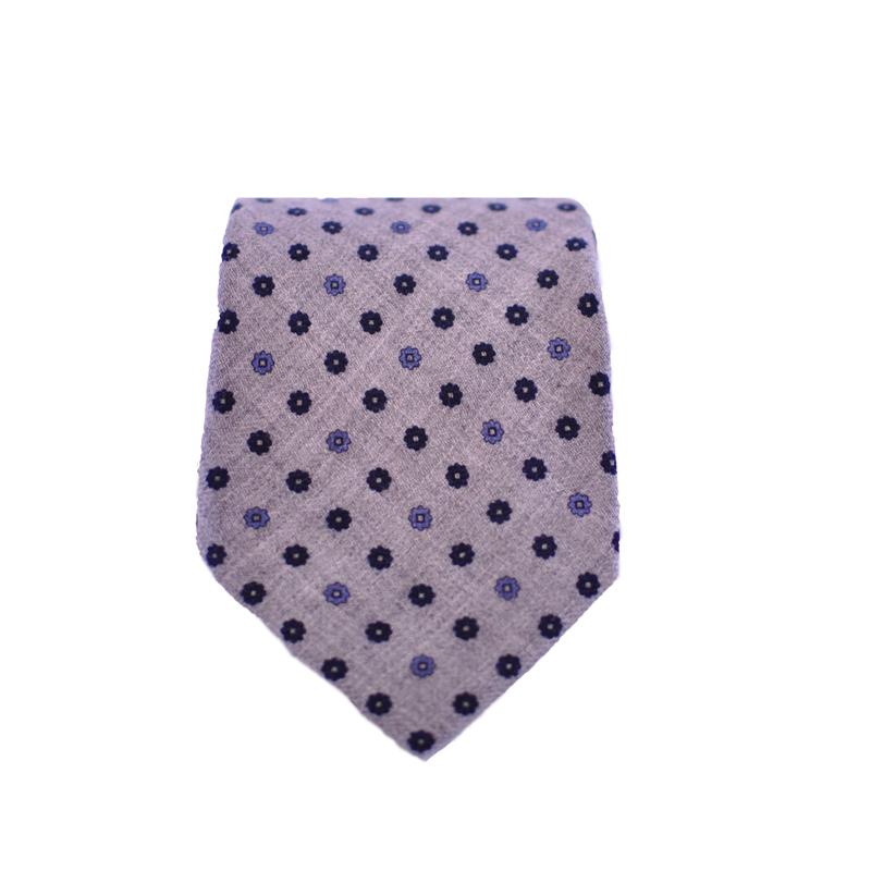 Cravatta lana grigia
