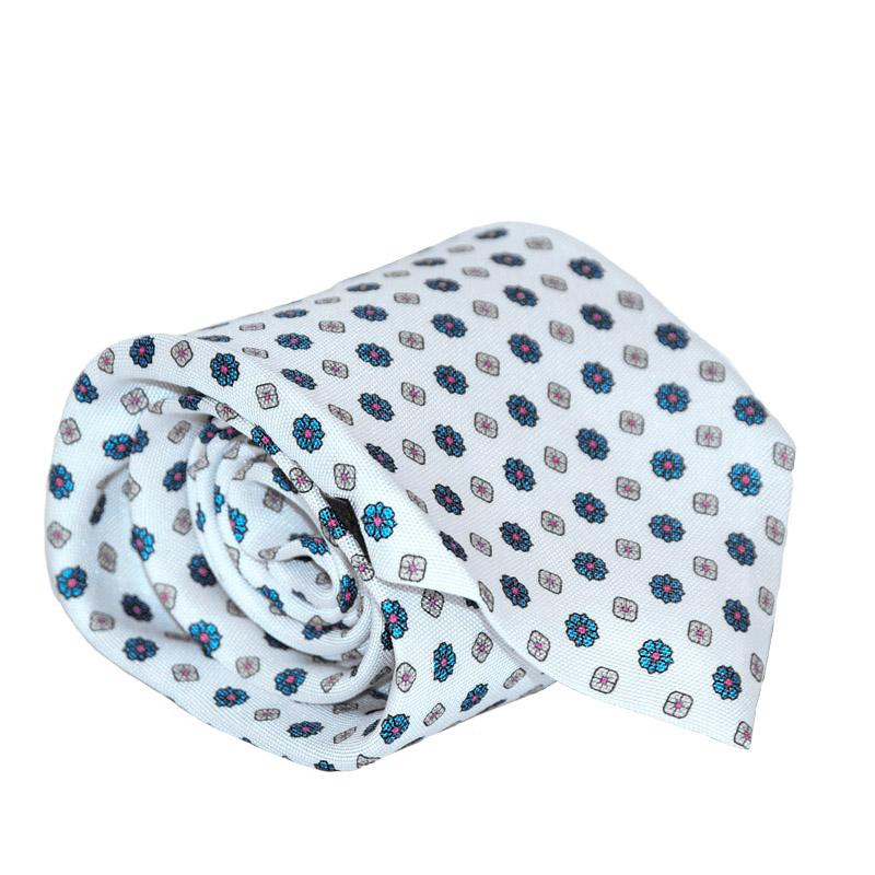 Cravatta seta bianca