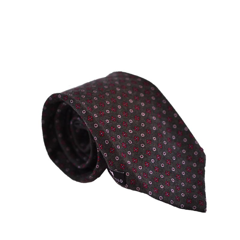 Cravatta lana verde oliva scuro