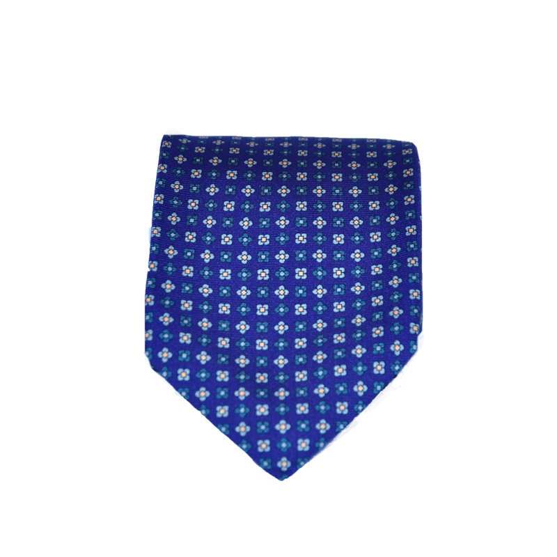 Cravatta seta blu