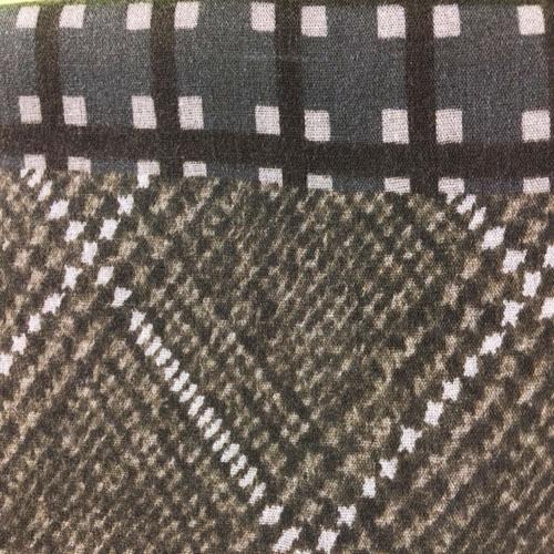 Sciarpa Marrone con quadrati Beige
