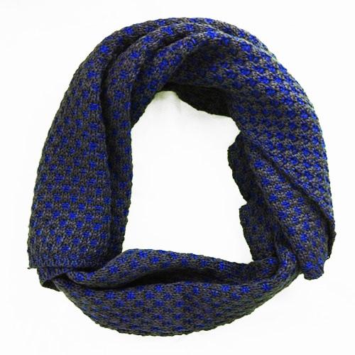 Sciarpa Nodini blu elettrico e grigio