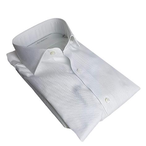 Camicia Uomo Bianco Spigato