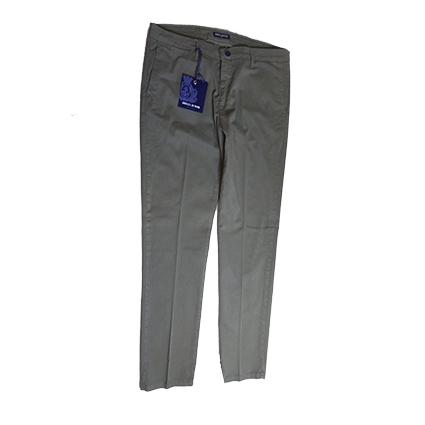 Pantalone Chino Cotone Verde Militare