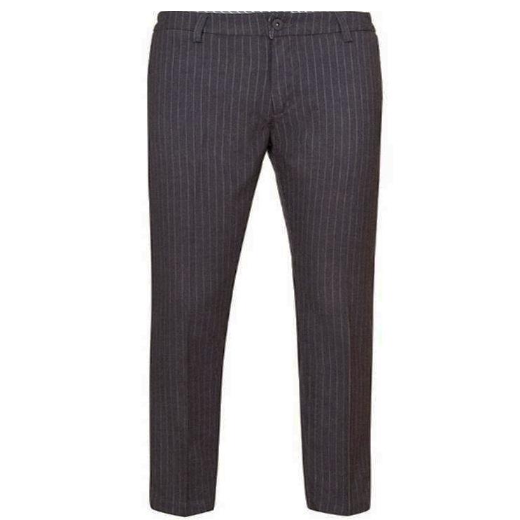 Pantalone Chino Grigio Rigato