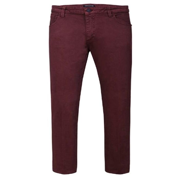 Pantalone 5 Tasche Bordeaux